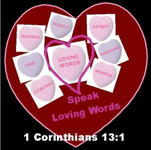 speak loving words