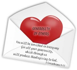 Generosity of Others 2 Corinthians 9:11