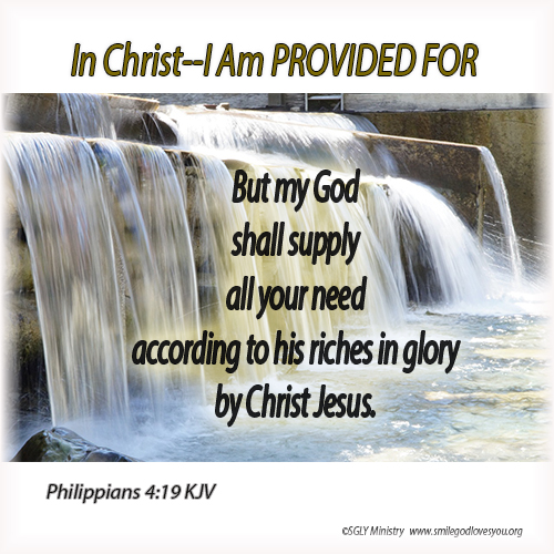 PROVIDED FOR Philippians 4:19