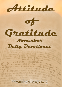 Attitude of Gratitude Daily Devotional for November