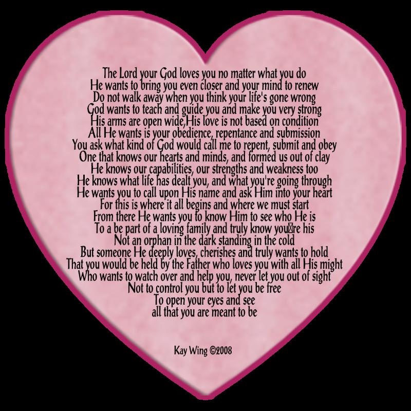 Gods Heart Poem